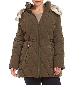 Nautica® Plus Size Diamond Quilted Anorak