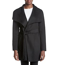 T Tahari Belted Wrap Jacket
