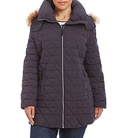Marc New York Plus Size Pyramid Quilted Puffer Coat