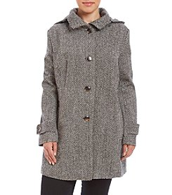 Jones New York® Plus Size Hooded Tweed Jacket