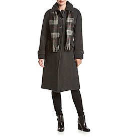 London Fog® Long A-Line Peacoat