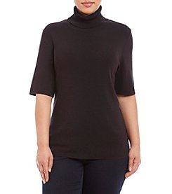 Jones New York® Plus Size Fitted Turtleneck Top