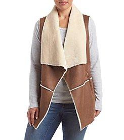 Jones New York® Plus Size Faux Sherpa Suede Vest