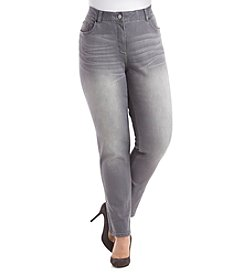 Rafaella® Plus Size Denim with Benefits™ Enzyme Wash Skinny Jeans