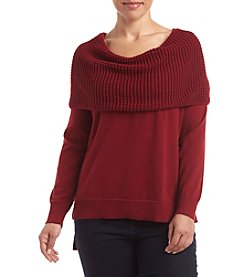 MICHAEL Michael Kors® Plus Size Waffle Cowl Neck Sweater