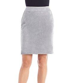 Calvin Klein Petites' Faux Suede Skirt