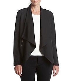 Relativity® Plus Size Ponte Cascade Open Jacket