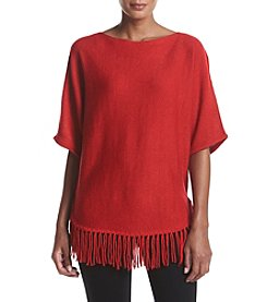 Relativity® Lurex® Fringe Sweater