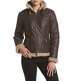 Giacca® Faux Leather Jacket