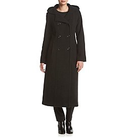 Anne Klein® Hooded Maxi Peacoat