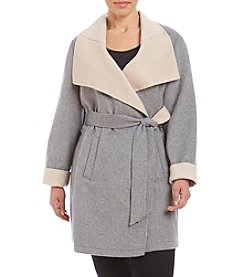 Laundry® Plus Size Two Toned Wrap Jacket