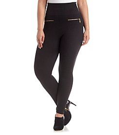 One 5 One® Plus Size Zipper Leggings