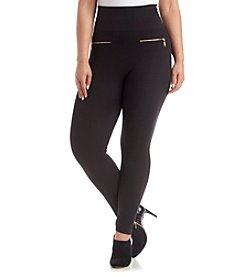 One 5 One® Plus Size Zipper Leggings