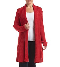 Studio Works® Plus Size Shine Fan Cardigan Sweater
