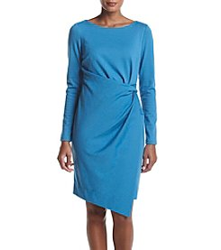 Jones New York® Long Sleeve Tucked Ponte Dress
