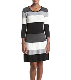 Tommy Hilfiger® Striped Sweater Dress