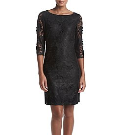 Nine West® Ponte Lace Shift Dress