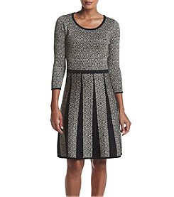 Nine West® Fit And Flare Metallic Sweater Dress