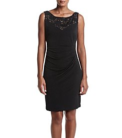 Connected® Sequin Lace Yoke Dress