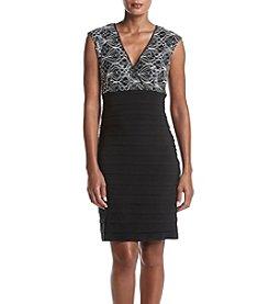 Ronni Nicole® Cap Sleeve Shutter Dress