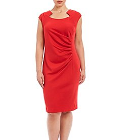Calvin Klein Plus Size Ponte Sheath Dress