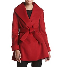 Trina Turk Residential® Fit And Flare Wrap Coat