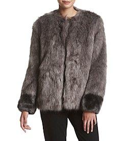 Vera Wang® Scarflett Faux Fur Jacket