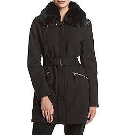 Via Spiga® Belted Softshell Coat