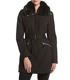 Via Spiga® Belted Softshell Coat