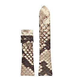 Michael Kors®Access Bradshaw Gray & Black Embossed Python Strap