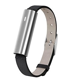 Mistfit Ray™ Stainless Steel Black Leather Strap Sport Band
