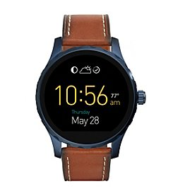 Fossil® Q Marshal Touchscreen Leather Strap Smart Watch