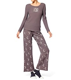 HUE® Thermal Pajama and Sock Set