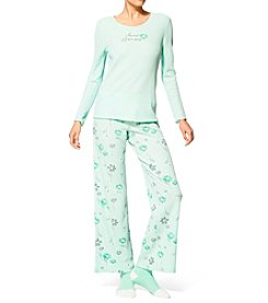 HUE® Socks And Pajama Set