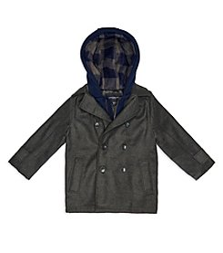 London Fog® Boys' 2T-7 Layered Hoodie Peacoat