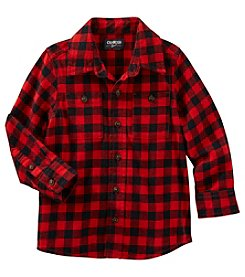 OshKosh B'Gosh® Boys' 2T-4T Long Sleeve Plaid Shirt