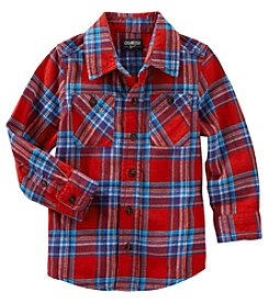 OshKosh B'Gosh® Boys' 2T-5T Long Sleeve Plaid Shirt
