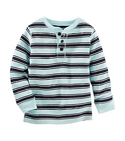 OshKosh B'Gosh® Boys' 2T-4T Long Sleeve Striped Henley
