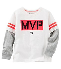 OshKosh B'Gosh® Boys' 2T-7 Long Sleeve Layered MVP Tee