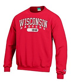 Champion® NCAA® Wisconsin Badgers Men's Team Crew Neck Sweatshirt