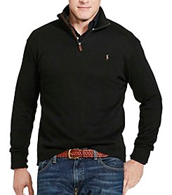 Polo Ralph Lauren® Men's Big & Tall French Ribbed 1/2 Zip Pullover
