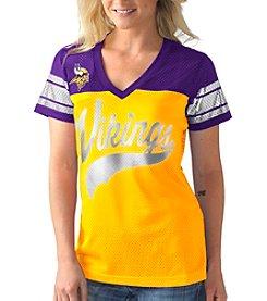 G III NFL® Minnesota Vikings Women's Pass Rush Mesh Tee