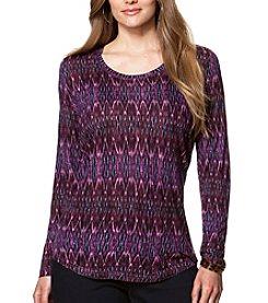 Chaps® Plus Size Ikat Jersey Shirt