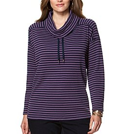 Chaps® Plus Size Striped Cotton Pullover