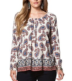 Chaps® Plus Size Paisley Boho Top