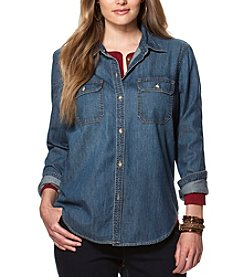 Chaps® Plus Size Denim Workshirt