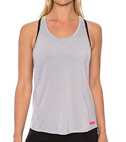 Betsey Johnson® Performance Floral Mesh Spacedye Tank