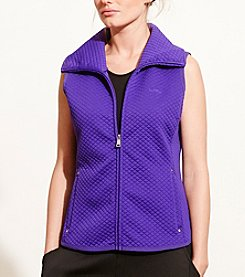 Lauren Active® Quilted Jacquard-Knit Vest