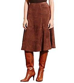 Lauren Ralph Lauren® Suede A-Line Skirt