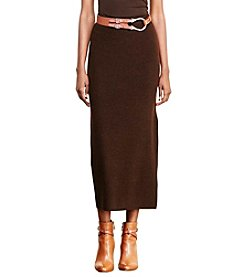 Lauren Ralph Lauren® Rib-Knit Merino Wool Skirt